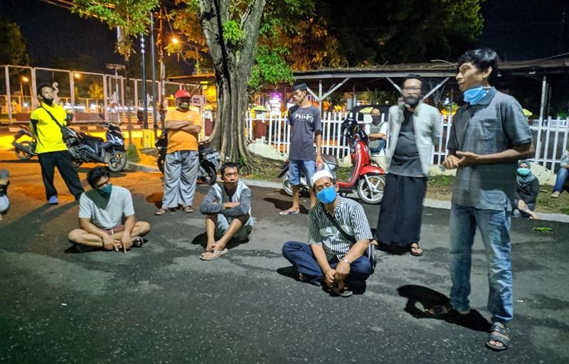 Selama PSBB Di Banjarbaru, PKL Lapangan Murjani Sepakat Tak Berjualan